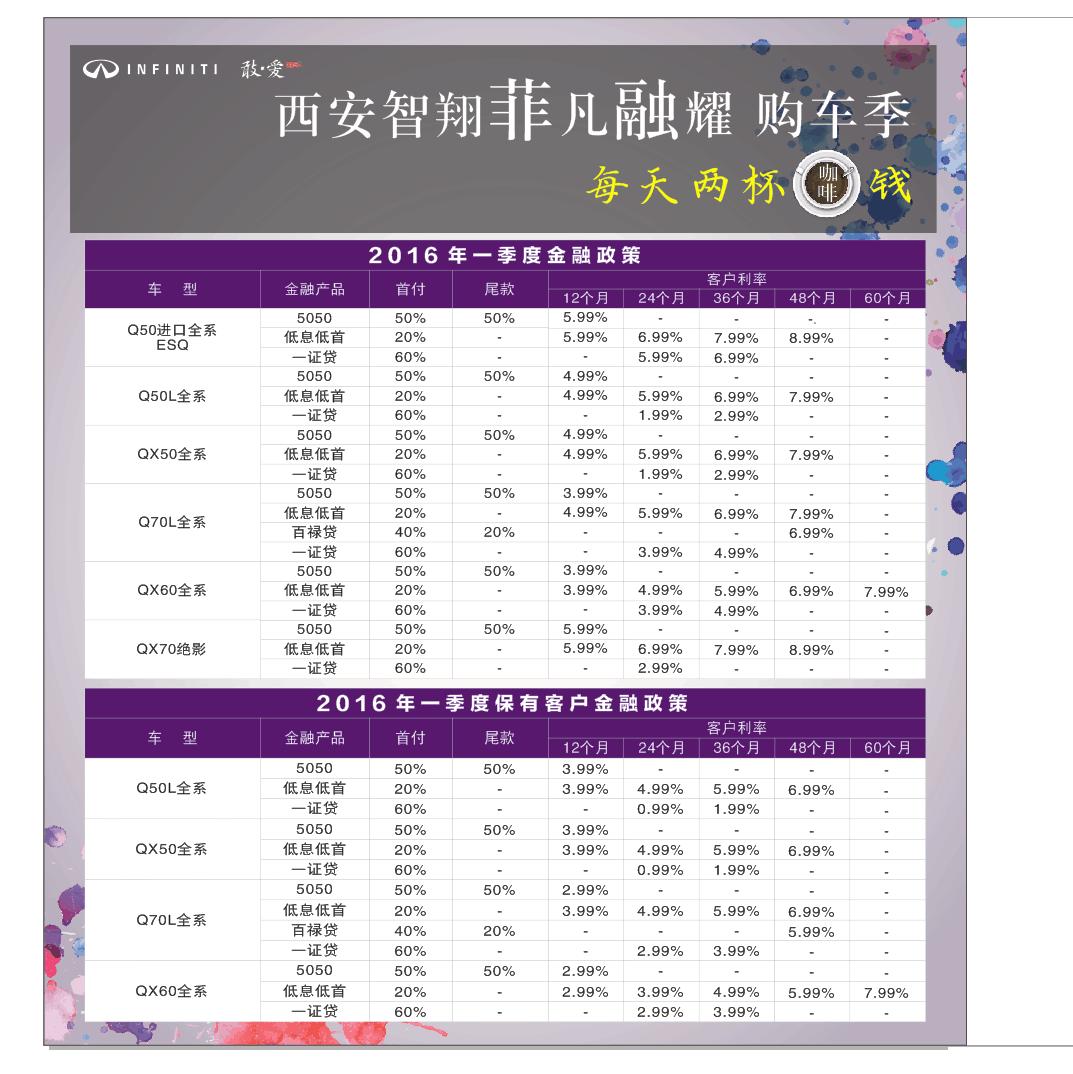 """西安智翔英菲尼迪-""""菲凡融耀""""购车季全面起航"""